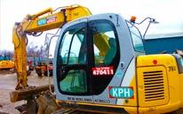 Kobelco SK95 Offset Knuckle Boom Excavator Hire